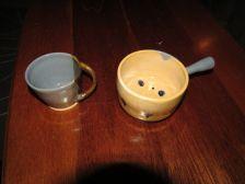 jak e- mug and bowl with funky handles