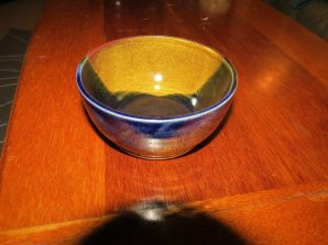 jake - blue and brown bowl