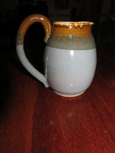 jake - blue and brown jug