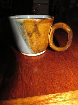 jake - blue and brown mug