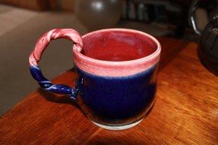 jake - blue mug, pink rim