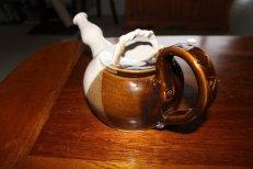 jake - brown and whiter teapot