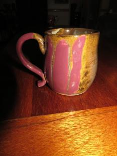Jake - pink and brown mug