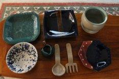 jake - square plates, utensils