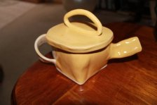 jake - square yellow teapot