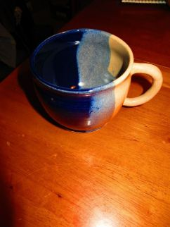 jake - white and blue mug